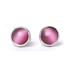 Náušnice Pearl Silver Pink