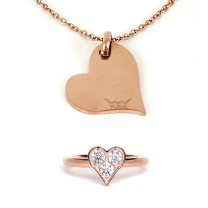 Heart Rosegold Set